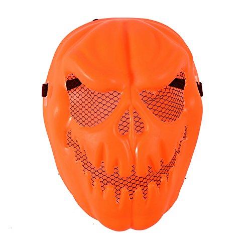 Komonee Kürbiskopf Erwachsene Orange Halloween Maske (HM20)