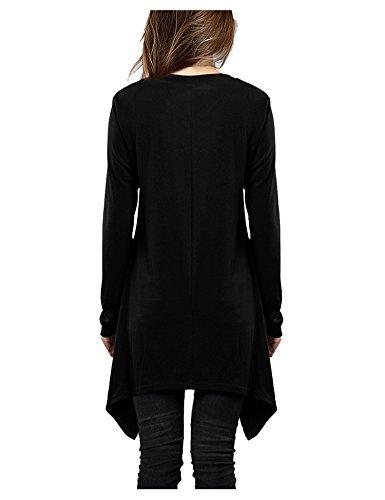 Damen Karierte Langarmshirt Lose Bluse Hemd Shirt Oversize Sweatshirt Oberteil Tops T-shirt Rot