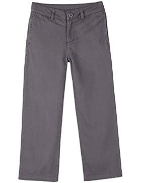 Bienzoe Jungen Schuluniformen Flache Vorderseite Baumwolle Köper Einstellbare Taille Hosen