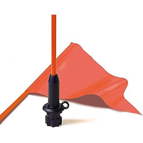 Railblaza 02401011 - Asta bandiera flessibile con base, colore: Nero