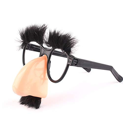 chongfujiancai lustige Brille, Halloween-Dekoration, lustige doolische Nerd-Brille, Augenbraue, Nase mit Schnurrbart, Kostüm, Party-Requisiten (Nerd Kostüm Mit Brille)