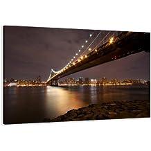 Visario Leinwandbilder 5056 Bild auf Leinwand New York, 120 x 80 cm