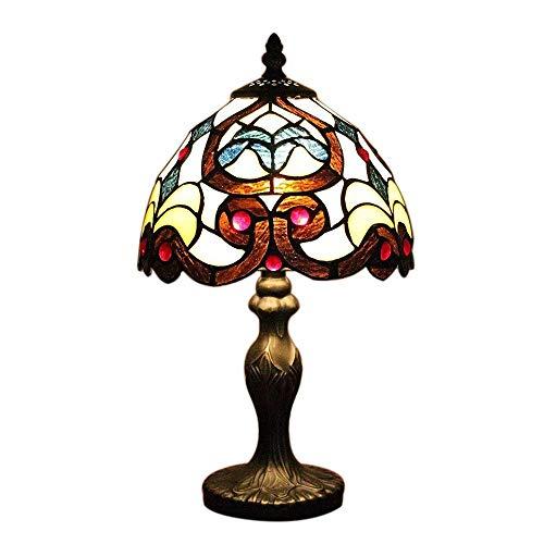 8 Zoll Continental Barock Tiffany Tischleuchte Manor Retro Nachttischlampe