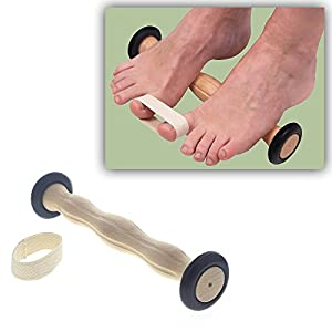 Fußgymnastikrolle mit Ringgurt, Kosmetex Fußrolle, Training der Beweglichkeit bei Hallux Valgus (Schiefzehe)