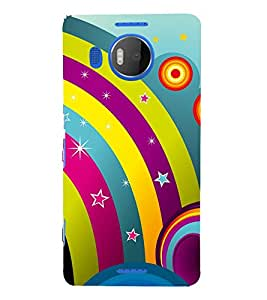 Rainbow Design Pattern 3D Hard Polycarbonate Designer Back Case Cover for Nokia Lumia 950 XL :: Microsoft Lumia 950 XL
