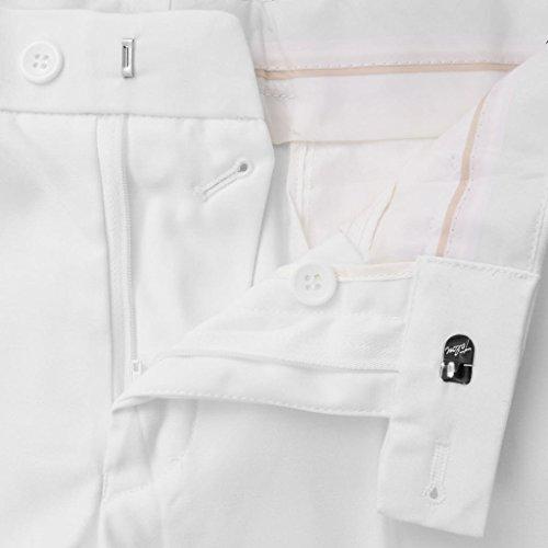 vidaXL Completo da Uomo a 2 Pezzi Giacca Pantaloni Bianco con Cravatta Taglia 46 Bianco 50