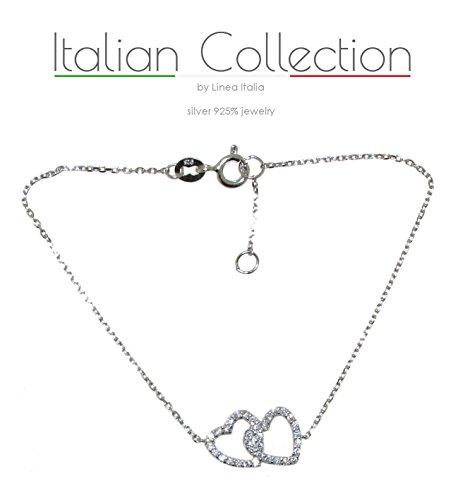 Italiancollection - bracciale in argento 925% e zirconi