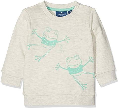 TOM TAILOR Kids Baby-Jungen Cute Frog Sweatshirt, Beige (Hot Sand Melange 8440), 92
