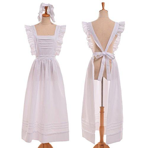 GRACEART Edwardian Viktorianisch Maid Schürze (Reine (Kostüm Haus Alice)