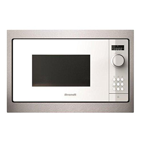 BRANDT bms6115 W intégré Solo - Micro-onde (intégré, Solo micro-ondes 26 l, 900 W, boutons, rotatif, blanc)