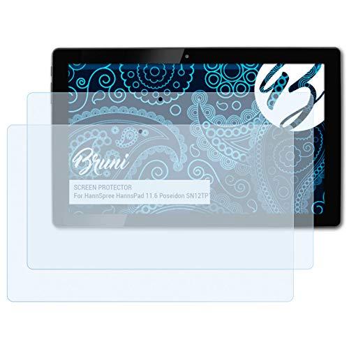 Bruni Schutzfolie für HannSpree HannsPad 11.6 Poseidon SN12TP1B Folie, glasklare Displayschutzfolie (2X)