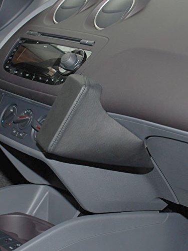 kuda-console-de-telephone-pour-seat-ibiza-a-partir-de-06-2008-cuir-veritable-noir