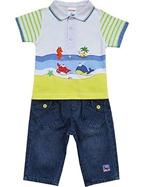 Schnizler Jungen Bekleidungsset 2 Tlg. Meeresfreunde mit Poloshirt und Jeanshose