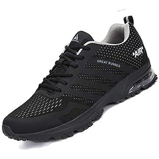 Sportschuhe Herren Laufschuhe Mesh Leichte Turnschuhe Atmungsaktive Fitnessschuhe Traillaufschuhe Sommer Sneaker Stil 3:Schwarz 44 EU