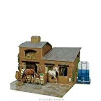 Deluxe 3D Moving Horse Stables Birthday Card Pop Up Places Swing Greeting Card