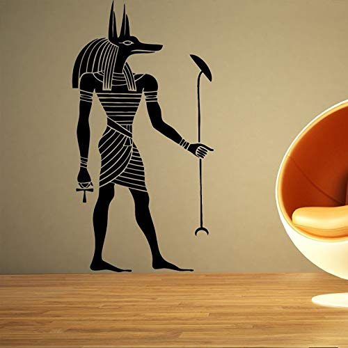 jiuyaomai Seth ägyptischen Gott Kunst Poster wandaufkleber für Wohnzimmer Vinyl wasserdicht Hause Schlafzimmer Kunst Dekoration Aufkleber wandbilder braun 42x81 cm