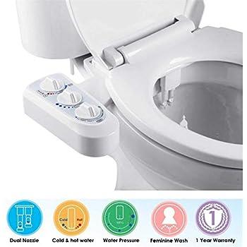 Outstanding Hibbent Non Electric Mechanical Toilet Bidet Seat With Dual Creativecarmelina Interior Chair Design Creativecarmelinacom