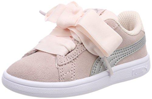 Puma Unisex Baby Smash v2 Ribbon AC Inf Sneaker, Pink (Pearl Silver), 25 EU
