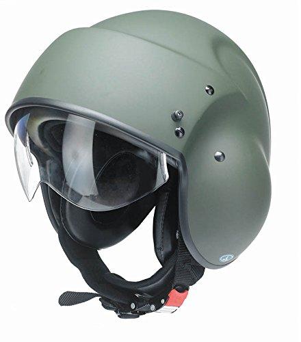Kostüm Helm Pilot - Redbike RB-850 Pilot Helm XS (53/54) Grün Matt