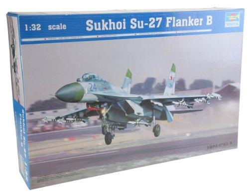 Trumpeter 02224 Modellbausatz Sukhoi Su-27 Flanker B (Kunststoff-modell-kits Flugzeuge)