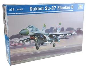 Trumpeter 2224 - Sukhoi Su-27 Flanker B a Escala Importado de Alemania