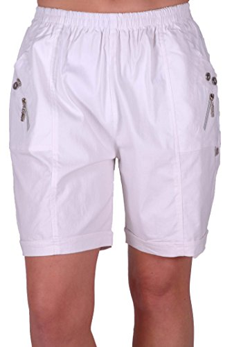 EyeCatch - Short comfort stretch grandes tailles -Femme New Blanc