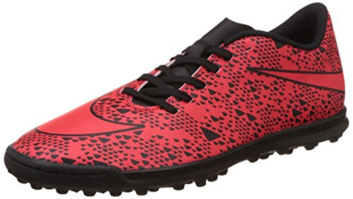 Nike Men's Bravata Tf Light Crimson and Black Football Boots -5 UK/India (38 EU)(5.5 US)  available at amazon for Rs.2621