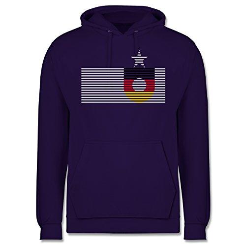 EM 2016 - Frankreich - Deutschland Streifen - Männer Premium Kapuzenpullover / Hoodie Lila