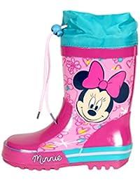Botas de agua Minnie Disney para niñas color rosa