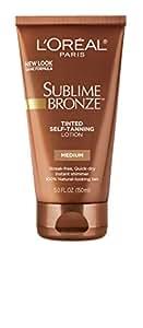 L'Oreal Lotion auto-bronzante teintée Sublime Bronze Dermo-Expertise - Enrichie en vitamine E - FPS 15 - Bronzage léger/moyen - 145 ml