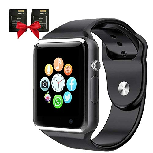 Smart Watch, Janker Bluetooth Smartwatch Phone with Camera/SIM Card Slot for Call/Message Sedentary Reminder Pedometer Music Player Wrist Watch Compatible Android IOS Phones for Men Women Kids