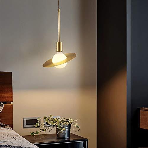 HYH Licht Einfache Kupfer Saturn Kleine Kronleuchter/Messingstab Kreative Schlafzimmer Nacht Restaurant Kronleuchter EIN schönes Leben