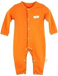 Bebé niñas cuello redondo manga larga Pelele pijama Mono de Una Pieza