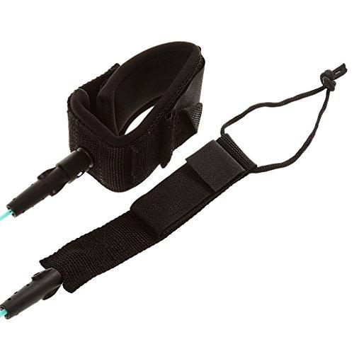 10ft Spiralleine Fußschlaufe Paddelboard Leash Seil für Paddle Hellblau -