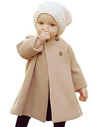 Automne Hiver Vêtements pour bébé, Moonuy Automne hiver filles manteau veste bouton manteau chaud couleur unie vêtements Casual