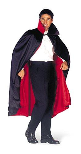 ,Karneval Klamotten' Kostüm Wendeumhang Vampir-Umhang mit Stehkragen schwarz-rot Herren Vampirkostüm Einheitsgröße (Mit Cape Vampir Kragen)
