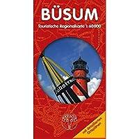 Büsum und Umgebung Rad- und Wanderkarte: Tipps für Trips rund um Büsum. Touristische Regionalkarte 1:60000