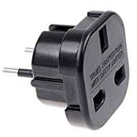 ‏‪UK to EU AC Power Plug Adapter Socket Converter 10A/16A 240V 10pcs/lot GH8102B‬‏