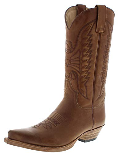 Sendra Boots Damen Herren Cowboy Stiefel 2073 Braun 46 EU