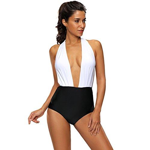Slocyclub -  Costume intero  - Donna black&white