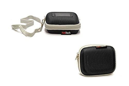 Navitech schwarz Hartschalenkoffer für SAMSUNG T3 External SSD - 500 GB