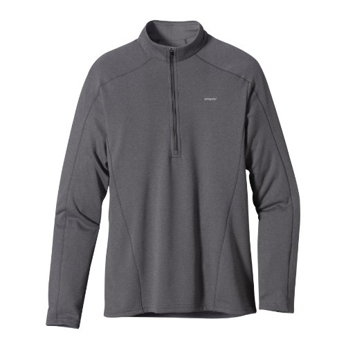 Patagonia Herren Langarmshirt Cap 3 MW Zip Nec, forge grey - feather grey, S, 44441, (Mw 3 Zip)