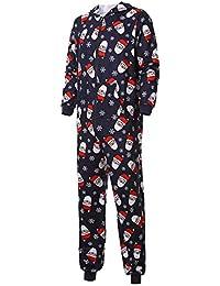 Zolimx Damen Herren Weihnachten Hoodie Nachtwäsche Outfits Kinder Baby Mädchen Haube Strampler Overall Familien Pyjamas Nachtwäsche Weihnachtsausstattung