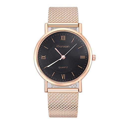 UINGKID Damen Armbanduhr Analog Quarz Herren-Kunststoffband Quarz Uhr Einfache römische Waage weibliche Modelle