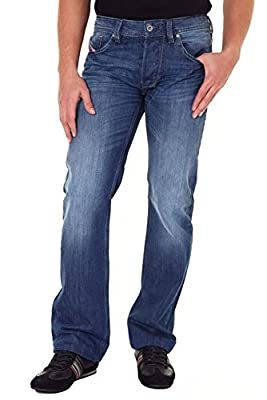 Diesel Larkee Regular Fit Mens Jeans - Blue Wash 8XR 32W/34L