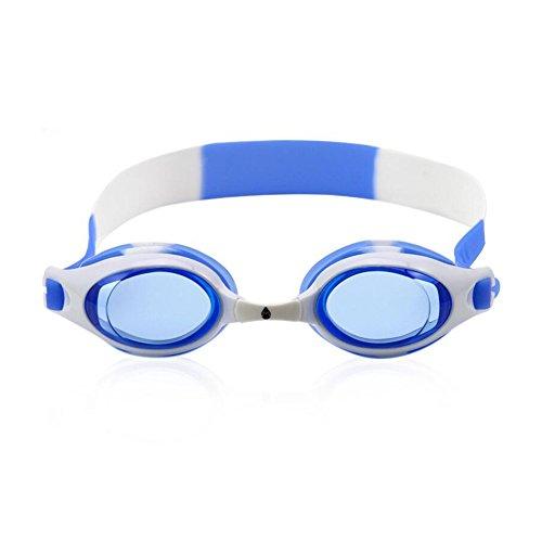Sunny Honey Kind-Schwimmen-Schutzbrillen-beiläufige Wassersport-Jungen Und Mädchen-Anti-Fog Imprägniern Augen-Schutz-Rosa-Blau (Farbe : Blau)