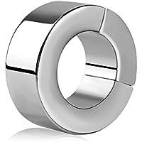 utimi testículo Anillo Anillo estiramiento de testículo Segmento de acero inoxidable sin costuras Pene Anillo Cock Ring magnética grifo anillos para hombres, 3,6cm de diámetro interno y externo 6cm diámetro