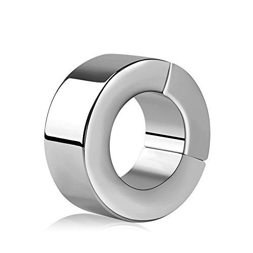 Utimi Hodenring Edelstahl Hodenstrecker Segment Ring Nahtlose Penisring Cockring Magnetische Hahnringe für Männer, 3,6cm Innendurchmesser und 6cm Externerdurchmesser