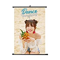 WeishenG Well-made Kpop TWICE Dance The Night Away Wall Scroll Poster TWICE Official Postcard TWICE Poster, Decorate Your Room for Camping, Picnic and Other Outdoor Activities(H09)
