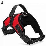 xMxDESiZ Verstellbarer Hund zu Fuß aus Gurtzeug Weste Kragen Handschlaufe Heavy Duty Hundegeschirr Red L
